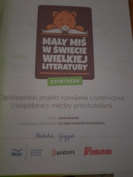 Projekt rozwijania czytelnictwa