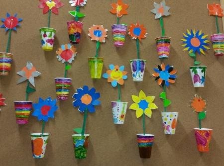 Wiosenne pomysły na prace plastyczne w domku.
