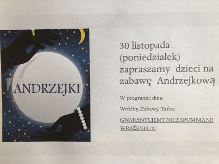 Ogłoszenie Andrzejkowe