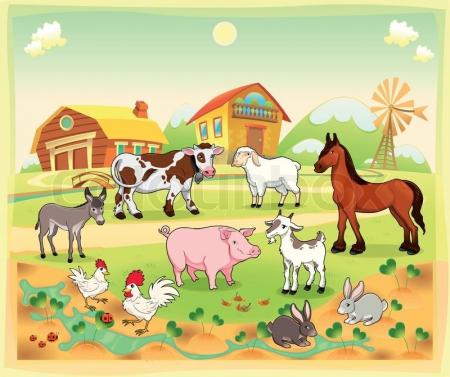 7.04 Domy i dzieci zwierząt wiejskich