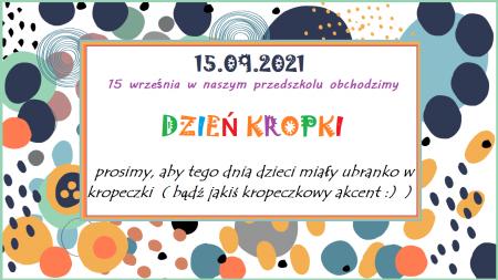 15.09 DZIEŃ KROPKI