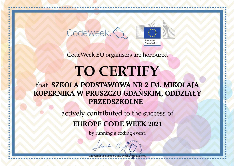 CodeWeek 2021- Europejski Tydzień Kodowania