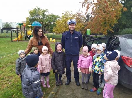 Wizyta Policjanta w przedszkolu